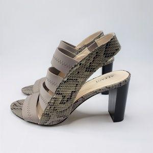 Alfani Rennata Leather Open Toe Casual Heel Sandle